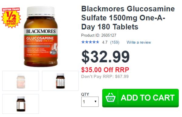 Blackmores Glucosamine 1500mg