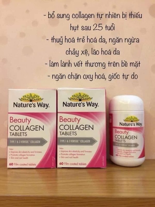 Viên uống Collagen Beauty Nature's Way 60v