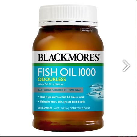 Dầu cá Blackmores fish oil 1000 mg hộp 200 viên