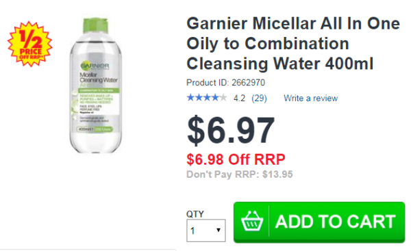 Garnier Micellar All In One Oily to Combination 400ml