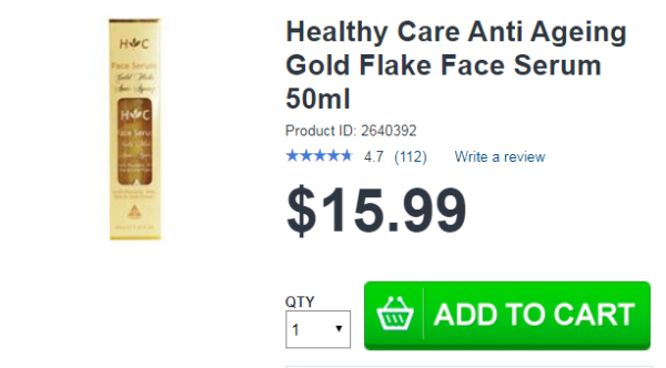 Healthy Care Anti Ageing Gold Flake Face 50ml