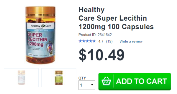 Lecithin Healthy Care 1200 mg
