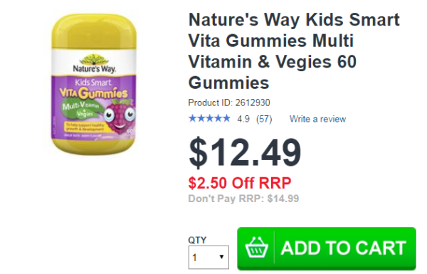 Nature Way kids smart Vita Gummies Multi Vitamin & Vegies 60 Gummie1