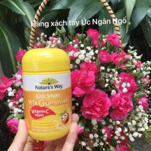 Kẹo Vita gummies bổ sung vitamin C và kẽm cho bé 60 viên