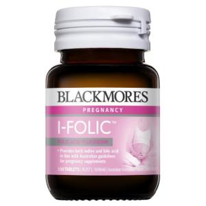Viên bổ sung I-ốt & Axit Folic Blackmores I-Folic