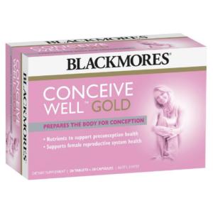Viên uống Blackmores Conceive Well hỗ trợ thụ thai