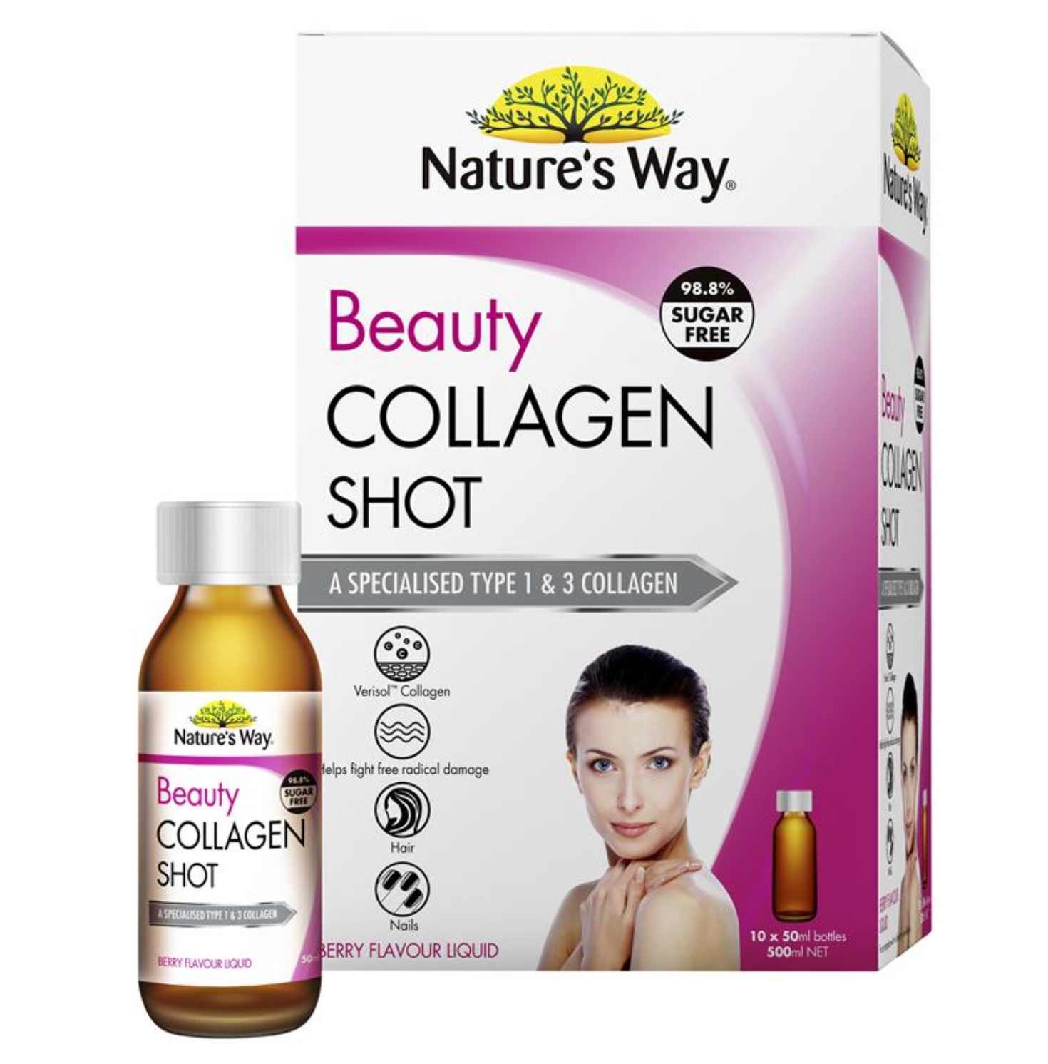Collagen peptides Shots 10 x 50ml của Natural Way Úc